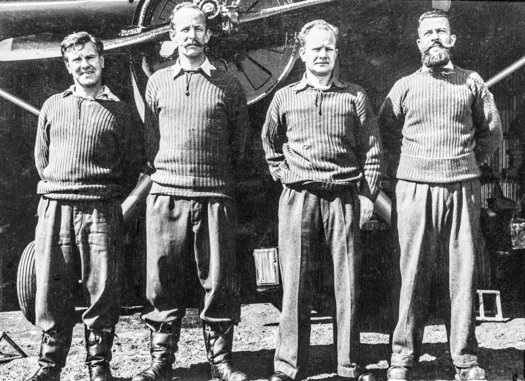 L to R – SQN LDR Leckie, PLT OFF Seaton, SGT Sunberg, SGT Johanson (Doug Leckie Collection)