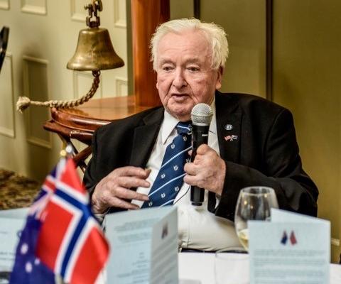 Norm Tame, 27th September 2019, 100th Anniversary of launching of Wyatt Warp, Hadley's Hotel Hobart