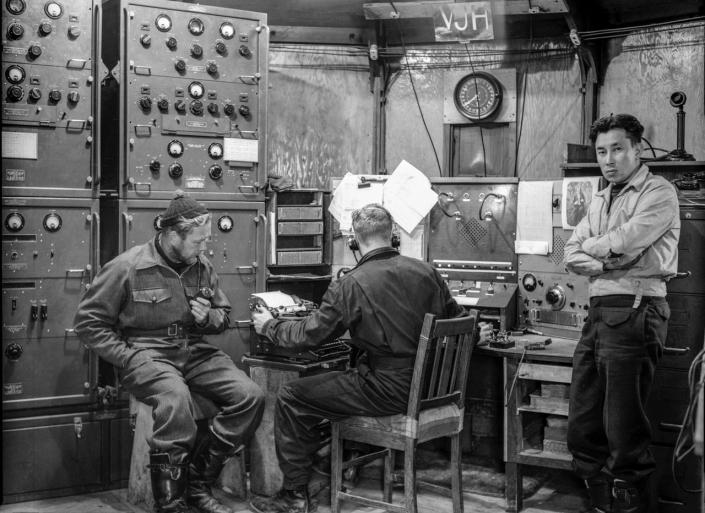 Radio shack at Heard Island 1951